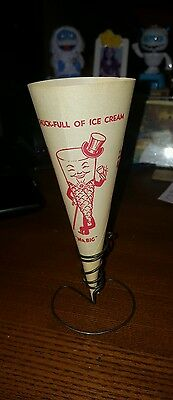 Vintage Ice Cream Mr. Big Chocolate Flavored Sugar Cone Wrapper Cone Holder 1948