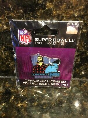 2018 Super Bowl NFL 52 LII Lapel trading pin Paul Bunyan Babe Ox