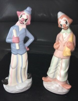 LOT OF 3 Adorable 2 Musical Clown Figurines 6