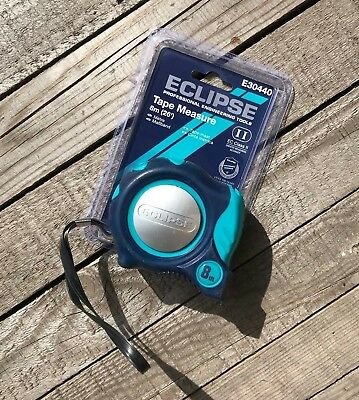 Eclipse 8M (26Ft) Auto Lock Tape Measure - Soft Feel - Imperial & Metric