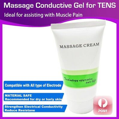 Massage Conductive Gel for TENS Machine Massager Unit XFT Electrode Cream 100ml