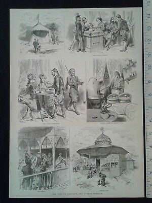 1876 Centennial Exposition Print - The Turkish Pavilion and Scenes Therein