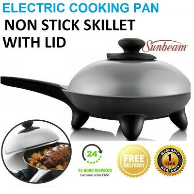 SUNBEAM Electric Frypan 25cm Skillet Non Stick Adjustable Heat Cooking Fry Pan