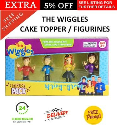 The Wiggles Characters 4 Pack Birthday Cake Topper Toy Pretend Figurine Game NEW