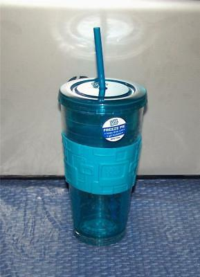 Cool Gear FREEZE ME 24 oz Gel Insulated Chiller Tumbler Cup BPA Free BLUE