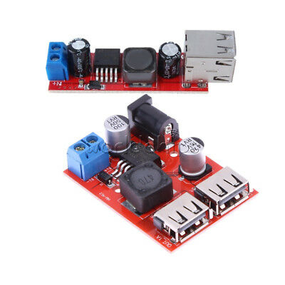 Dual USB Charger DC 6V-40V To 5V 3A Step Down Buck Power Supply Converter Module