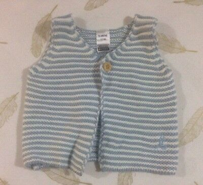 Bonds Baby Boys Knit Vest 0-3 Months 000