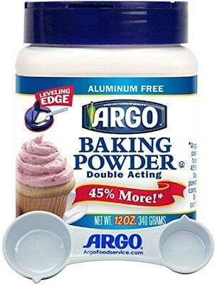 Argo - Double Acting, Aluminum Free Baking Powder, 12 Ounce Resealable Plastic -