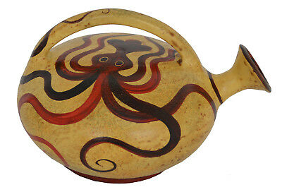 Minoan Art Pottery Small Ceramic Vessel - Octopus - Ancient Crete