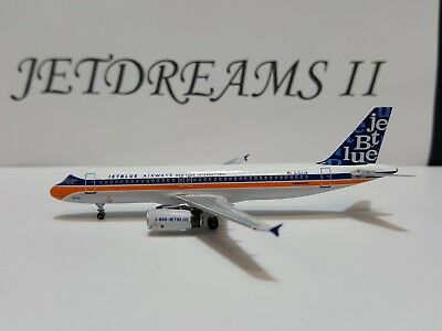 1/400 Jetblue Airways Airbus A320-200 Retro Ny Int'l Colors N763Jb Aeroclassics