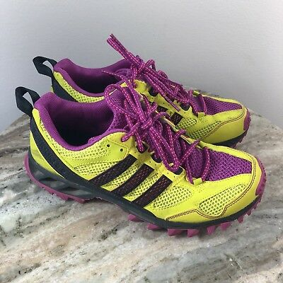 factory authentic 46171 bd9bd Adidas Kanadia TR 5 Trail Running Shoes Yellow Pink Womens Sz 6.5 Barely  worn