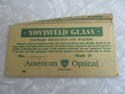 Vintage Welding lens dead stock in package clear American Optical mask