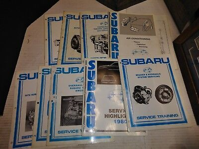 70s And 80s Repair Service Manual Subaru manufacture lot mechanic books carb air