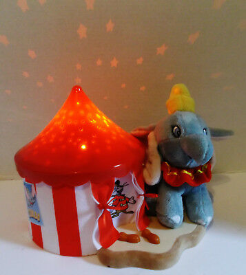Disney Baby DUMBO Star Projecting Night Light Cloud B Flying Elephant 2 Colors