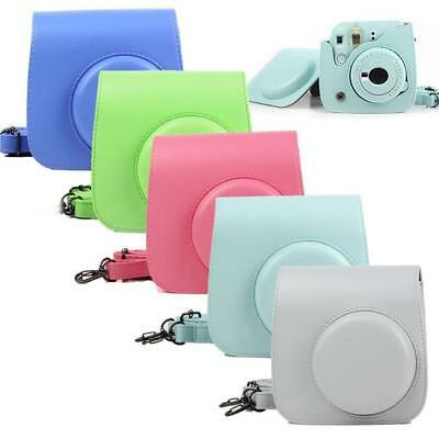 Instax Mini 8 9 Film Camera Carrying Bag Shoulder Leather Case Cover G