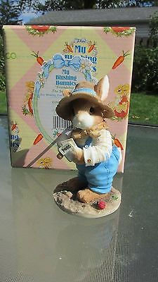 New My Blushing Bunnies Figurine:Friendships is The Seed of Life Enesco 204447