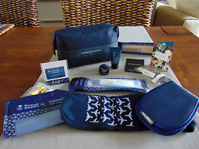 SAUDIA Business Class PORSCHE DESIGN Male BLUE Amenity Kit Trousse Kulturbeutel