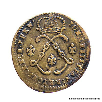 Antique French  France Coin Token penny  Louis XVI of France
