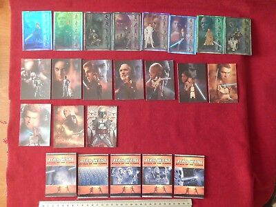 Full Sets Of Star Wars Attack Of The Clone Cards Silver Prismatic Foil Fold Out