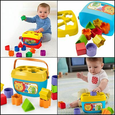 New Fisher-Price Baby's First Blocks Plastic Toy, Perfect Christmas Baby Gift!