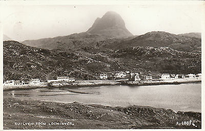 Houses, Church & Suilven, LOCHINVER, Sutherland RP