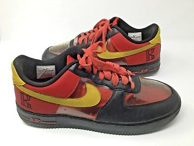 Details about Nike~Air Force 1~Kyrie Irving~Signature~Size 12~Red Yellow Clear