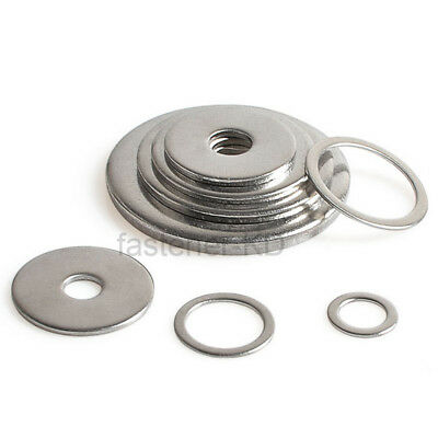 Flat Washer Repair Washers M3-M20 To Fit Metric Bolt & Screw A2 Stainless Steel