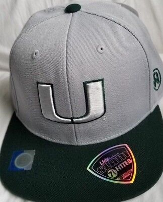 quality design 9fc5b 7f5f4 Miami Hurricanes NCAA One Fit CWS SLAM Hat Cap Top of the World FITTED 7 1