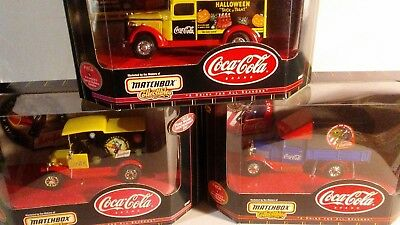 matchbox coca cola 3 delivery trucks 2 ford 1 gmc new in box 3 total