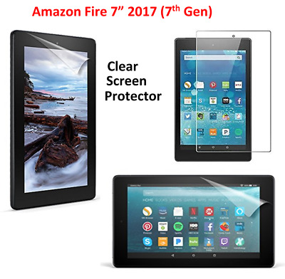 "Ultra Clear Screen Protector Guard Cover For Amazon Fire 7"" Alexa (7th Gen)2017"