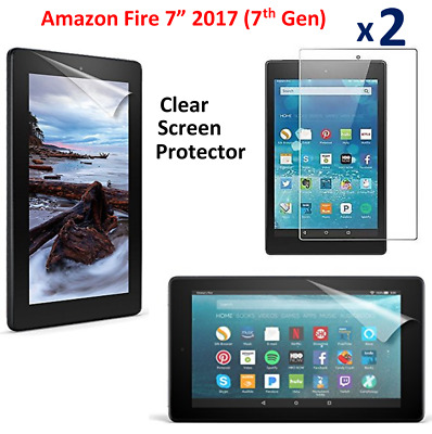 "2 X Clear HD Screen Protector Guard Cover For Amazon Fire 7""Alexa (7th Gen)2017"