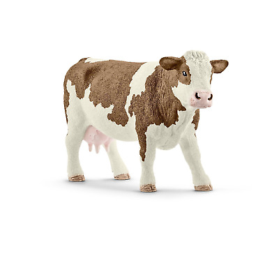 Schleich North America Simmental Cow Toy Figure