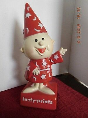 Vintage Insty-Prints Wizard Advertising Bank Figure