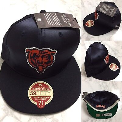 402ceeb5 Chicago Bears New Era 59FIFTY NFL Heritage Collection Cap Size 7 1/4 HAT  NAVY