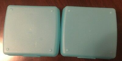 "TUPPERWARE BLACK SANDWICH CONTAINER LUNCH BOX BLACK 5"" x 5 1/2"" x 2"""