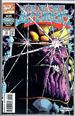 Marvel Comics THE SECRET DEFENDERS #12 HOLO FOIL THANOS COVER