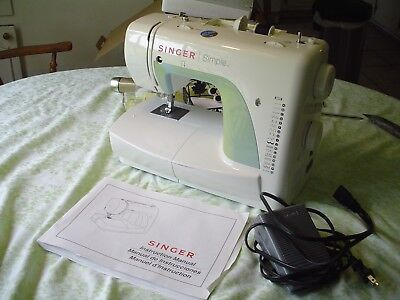 SINGER 40 SIMPLE Mechanical Sewing Machine W Pedal And Manual Delectable Singer Simple Sewing Machine Manual 3116