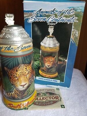 BUDWEISER AB Anheuser Busch Animals of the Seven Continents Stein South America