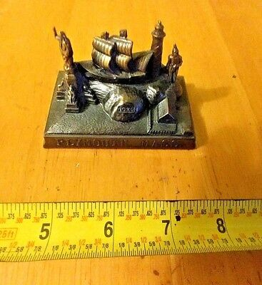 Vintage Plymouth Massachusetts Figurine/Paper Weight Made In Japan Plymouth Rock