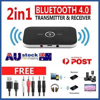 3.5mm 2in 1 Wireless Bluetooth Audio Transmitter Receiver HIFI Music Adapter AUX