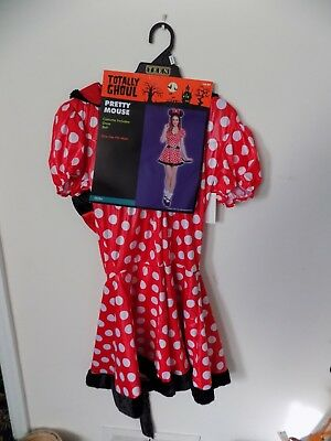 "Brand New Totally Ghoul Halloween Costume ""Pretty Mouse"" Sz OSFM Teen Dress Belt"
