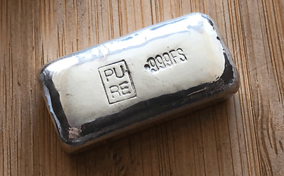 NEW - 1oz  Bullion Bar - Hand Poured  (999 Fine Silver)