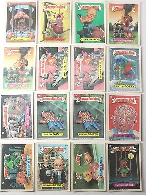Garbage Pail Kids Cards Original Series 9 And 10 Lot of 16 Fair To Good  343b