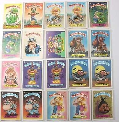 Garbage Pail Kids Cards Original Series 3 Lot of 20 No Doubles Fair To Good 105b
