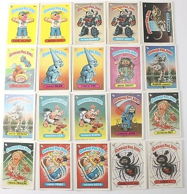 Garbage Pail Kids Cards Original Series 3 Lot of 20 No Doubles Fair To Good  87a