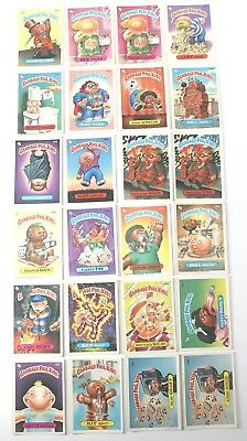 Garbage Pail Kids Cards Original Series 5 Lot of 24 No Doubles Fair To Good 167b