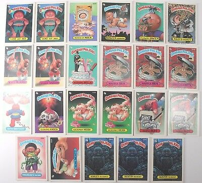 Garbage Pail Kids Cards Original Series 8 Lot of 23 Fair To Good Condition 294B