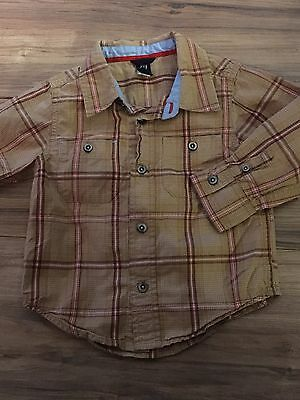 Baby Gap Boys Long Sleeve Button Up Shirt Size 2T Years