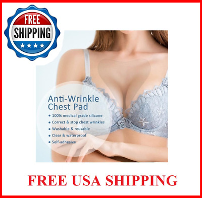 Decollette Wrinkle Prevention Silicone Breast Chest Pads Anti-aging Reusable 30+