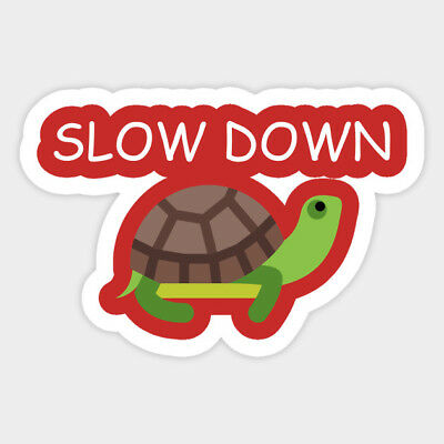 Sea Turtle Kawaii Cute Slow Down Vinyl Wall Decal Decor Sticker Meme Quote 4 99 Picclick